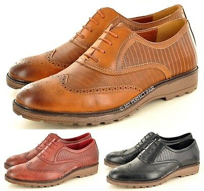 Humor New Men's Formal Casual Lace Up Oxford Brogue Office Shoes Size 7 8 9 10 11 Verschiedene Stile