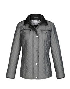 Size New Jacket Anthracite Grey R Lebek 18 Barbara Quilted YRYUw