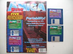 100% De Qualité Amiga User Magazine International Avril 1995-afficher Le Titre D'origine