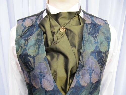 New Men/'s Victorian Edwardian Style Pre Tied Cravat Wedding Theatre Manycolours