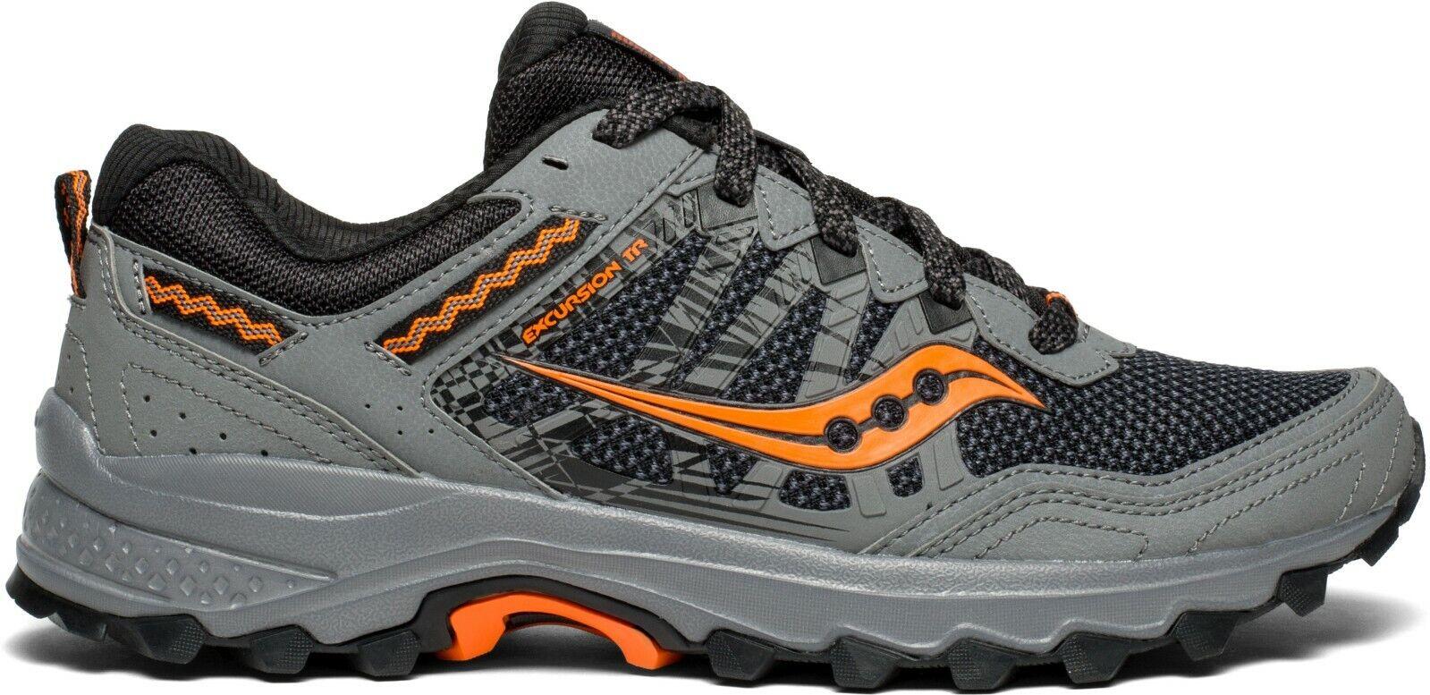 Saucony S20452 Grid Excursion TR12 Wide grau Orange Men Trail Running schuhe Größe