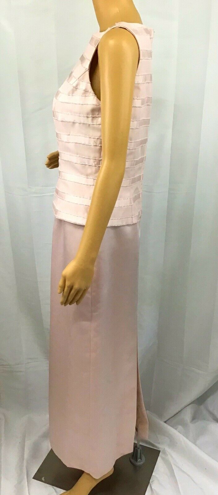 VINTAGE COUTURE MARIE ST. CLAIRE PINK BEADED TRIM… - image 5