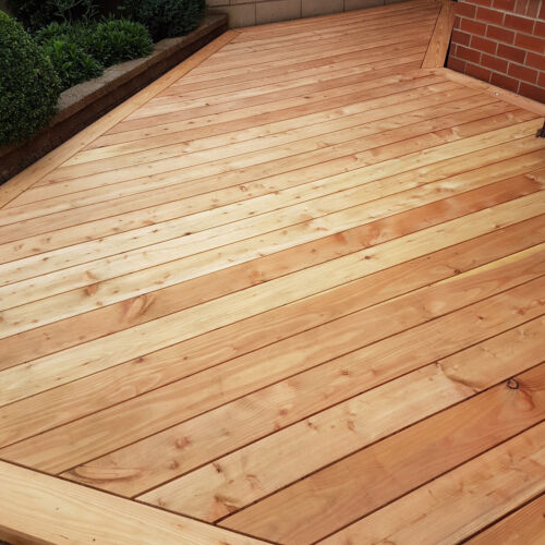 English Larch Smooth Decking Boards