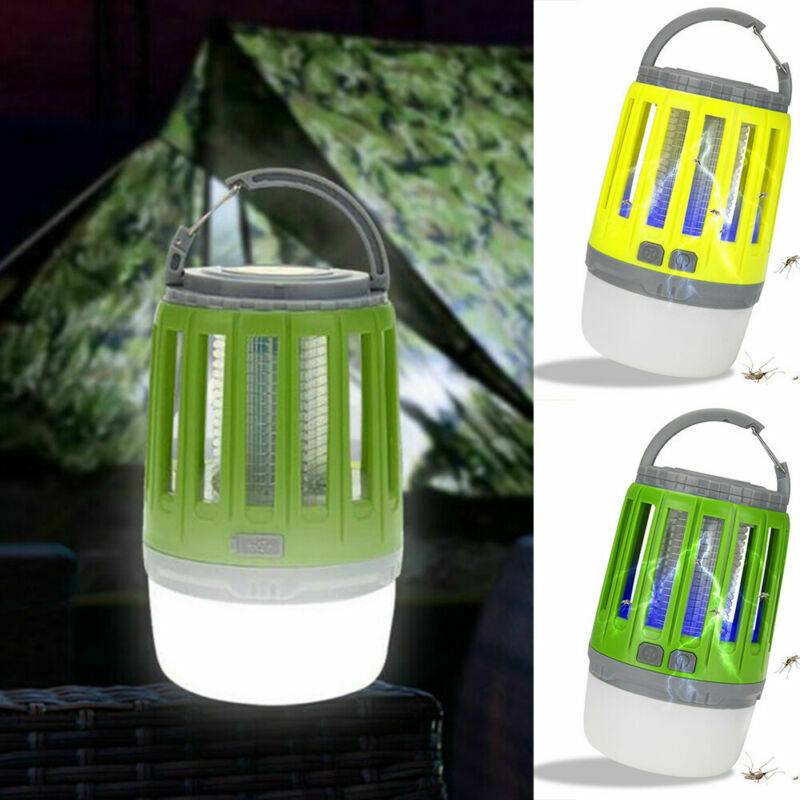 2 in 1 USB Mosquito Insect Killer Lamp Bug Zapper Camping Lantern Tent Light New