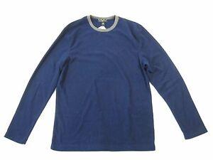vendita calda online f04c8 6127b Dettagli su Club Room Boccale di Birra Arte Blu Scuro S Pile 2 Pezzi Set  Pigiama Uomo