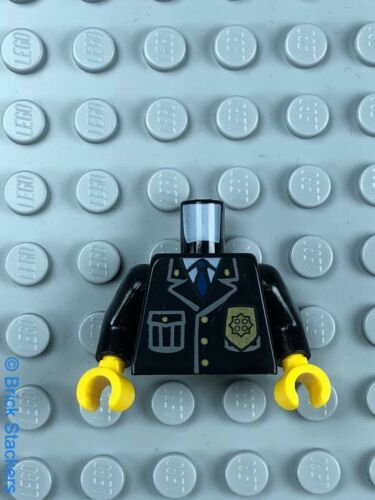 Gold Badge Yellow Hands x1 LEGO Minifigure Torso Police Jacket with Pocket