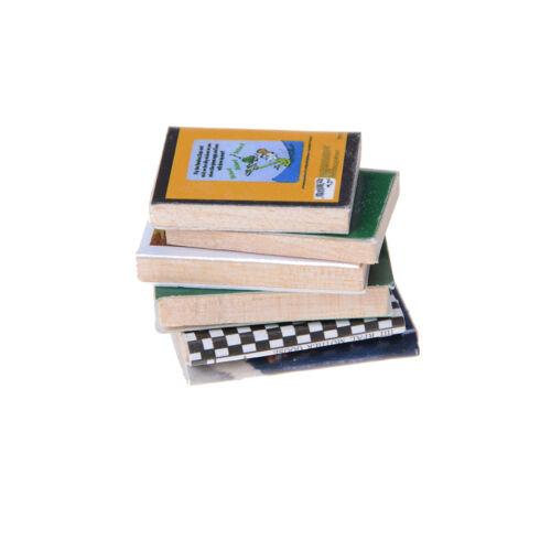 6pcs//set 1:12 Dollhouse Miniature Colorful Wooden Books Home Decoration EF