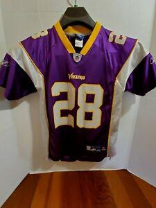 Reebok Youth Med 10-12 Minnesota Vikings Jersey Short Sleeve Pull Over NFL Sport
