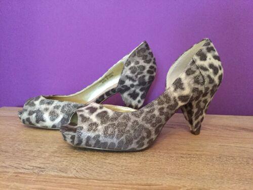 Chaussures 4 Nouveau Talons femmes Jaya Taille pour Uk Imprimé léopard Dorothy minces Perkins FwvqrYF