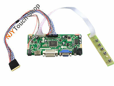HDMI+DVI+VGA LCD Controller Board Lvds Inverter Kit for 1440X900 LP171WP4-TLR1