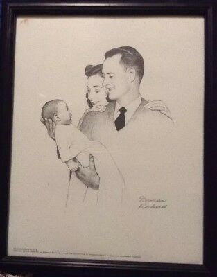 7 norman rockwell signed limited edition print original pencil drawings