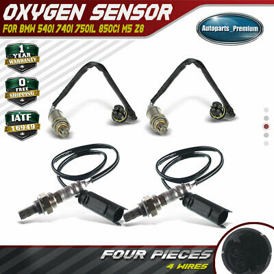 Downstream O2 Oxygen Sensor For BMW 750IL 540I M5 740Il 4.4L 5.4L 5.0L 4Pcs Up