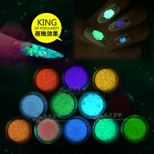 Glitter Luminous Nail Art Sticker Tips Decoration DIY Acrylic Manicure Color 3
