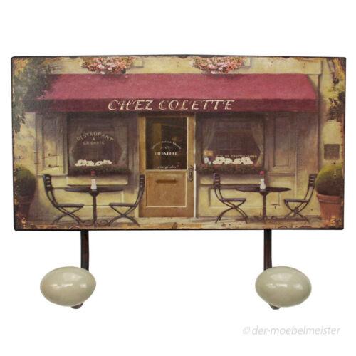 Nostalgie Wandgarderobe Wandhakenleiste Restaurant Garderobe Metall Blechschild