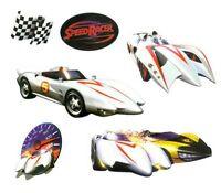 Speed Racer Decals -19 Race Racing Cars Decorative Wall Stickers Set Nip