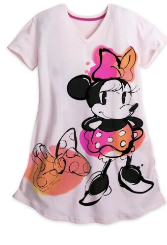 Authentic Disney Womens Night Shirt//gown Size XS Minnie Mouse
