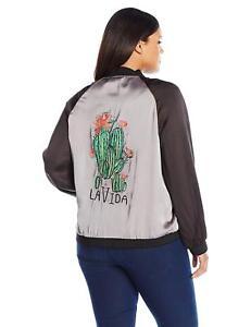 Melissa-McCarthy-Seven7-Women-039-s-Plus-Size-Reversible-Bomber-Jacket-size-1X-NWT