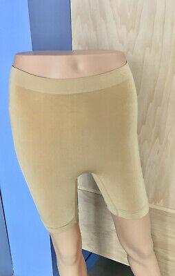 Womens Firm Control Shaper Long Leg Satin Panel Shapewear Size M L XL XXL PO25
