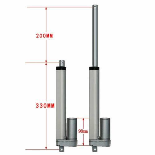 12V Linear Actuator 3000N 50-600mm Electric Wireless Motor Piston 2 Brackets