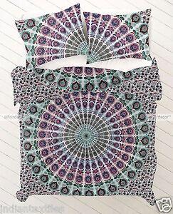 New-Indian-Duvet-Doona-Mandala-Hippie-Bohemian-Quilt-2-pillow-Cover-Blanket-New
