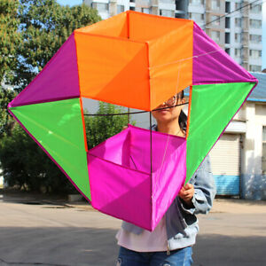 3D-Stereo-Baskets-BOX-kite-stunt-single-line-outdoor-fun-sports-novetly-kite-NEW