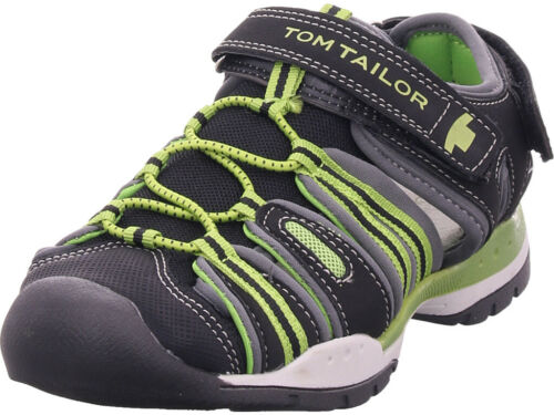 Tom Tailor Jungen  Sandale Sandalette Sommerschuhe schwarz