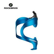 ROCKBROS Bike Water Bottle Cage Adjustable Aluminium Alloy Bottle Holder Blue