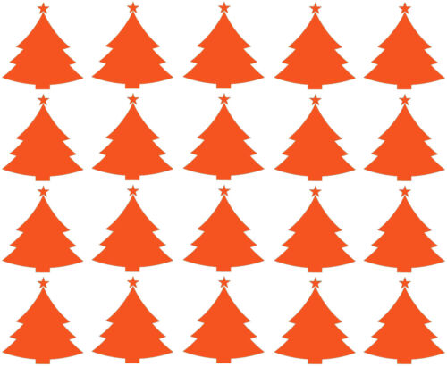Giftwrapping Cardmaking Wall /& Window Decor 20 x Christmas Tree stickers