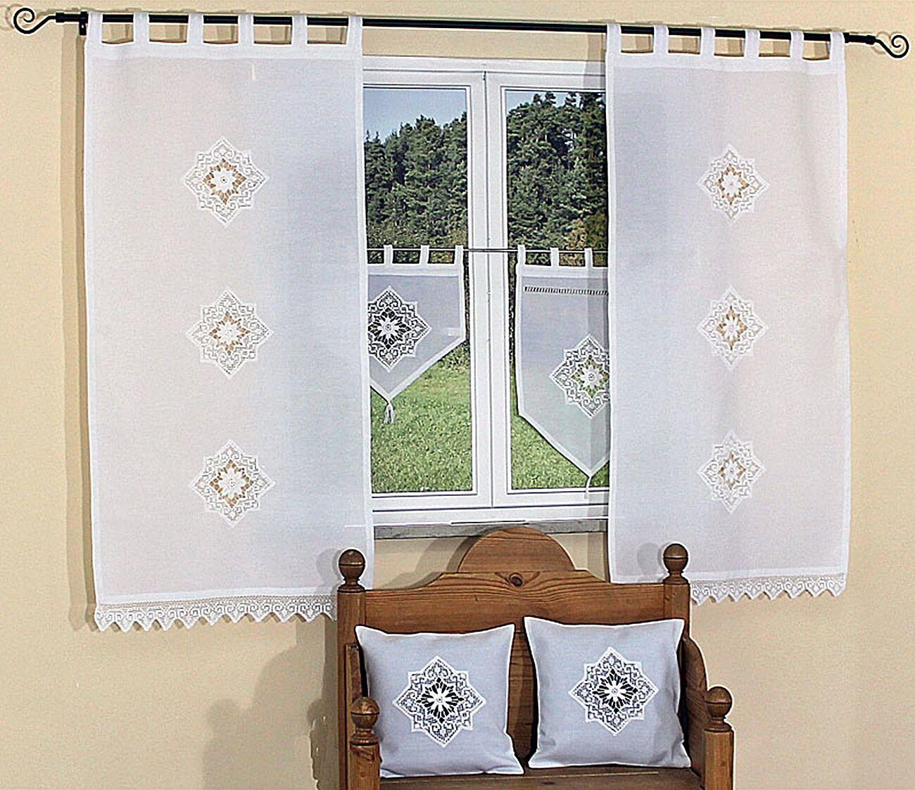 Tenda panneaux vetri Tenda Cuscino custodia federa Landhaus häkelspitze