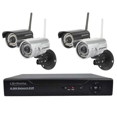 kit videosorveglianza ip camere wireless out completo NVR 8 ch Hd Sricam Italia