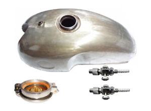 Benelli-Mojave-Cafe-Racer-260-360-Benzin-Tank-amp-Benzin-Messing-Wasserhaehne-amp-Cap