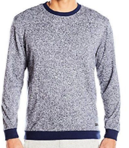 KENNETH COLE REACTION Downtime Crew Blue & White Sweater Sleeping ...