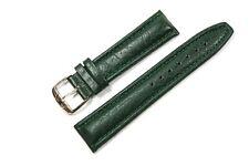 Jacques Lemans Ersatzband Uhrenarmband Lederband Kroko Optik dunkelgrün 20mm