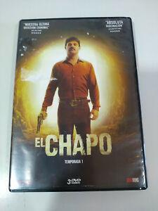 El-chapo-Primera-Temporada-Completa-3-x-DVD-Espanol-Latino-Ingles