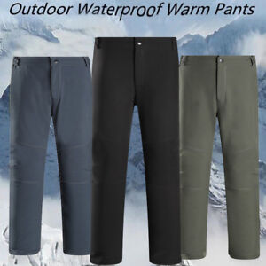 Winter-Men-Ski-Pants-Warm-Cargo-Waterproof-Skiing-Snowboard-Snow-Trousers-PantGX
