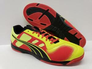 72ad9352a PUMA 102975 Nevoa Lite Indoor Soccer Futsala Shoes Low Sneakers Red ...