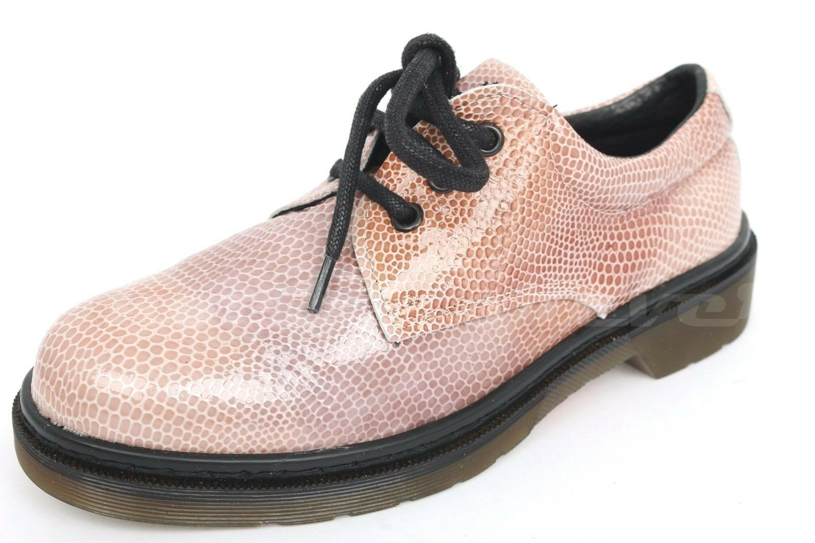 Donna TOPSHOP pink snake print pattern leather oxfords shoes sz. 38 NEW!
