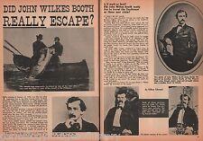 John Wilkes Booth * Escape? +St. Helen*, Stanton, Surratt, Townsend, Tutankhamen
