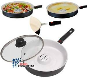 26cm-Corola-Ceramic-Non-Stick-Frying-Pan-Dry-Cooker-with-Detachable-Handle