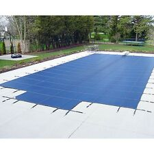 Water Warden Mesh Safety Pool Cover w/ Step Section Blue Green 15 Yr Warranty