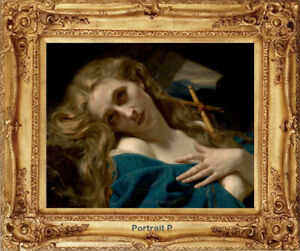 Old-Master-Art-Portrait-Woman-Oil-Painting-Mary-Magdalene-Lady-Unframed-24x30