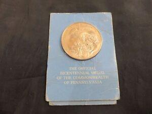 FRANKLIN MINT Bronze Proof PENNSYLVANIA BICENTENNIAL Medal