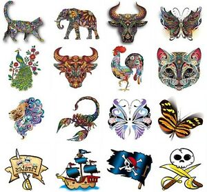 temporary tattoos mini retro tattoos waterproof temporary tattoos animal tattoo ebay. Black Bedroom Furniture Sets. Home Design Ideas