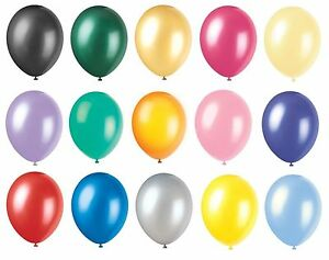 12-034-METALLIC-Pearlised-High-Quality-LATEX-BALLOONS-Decoration-Birthday-Party