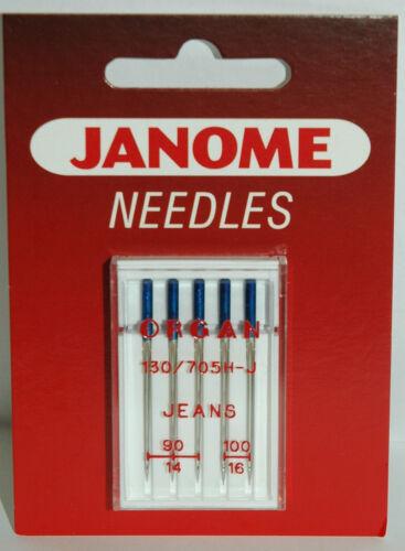 Janome Jeans Nähmaschine Nadeln 130//705 H-J Größe 90//14-100//16 Packung J505