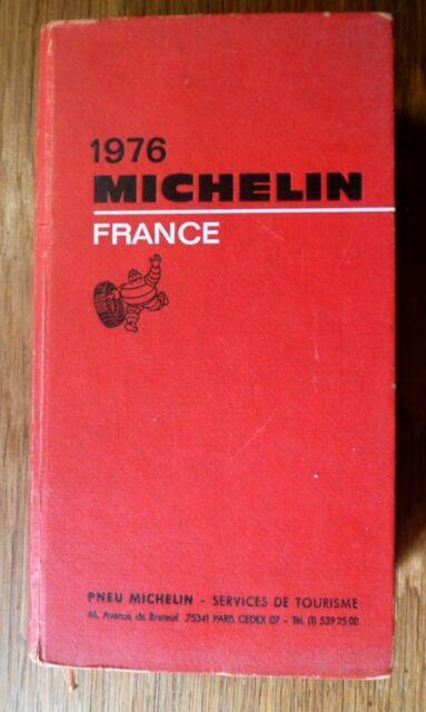 7689 Guide rouge Michelin France éd.1976 Plans des villes, Restaurants, Hotels