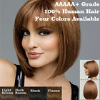 Bob Style Wig Women's Short Straight Full Hair Wigs Cosplay Party Neat Bangs
