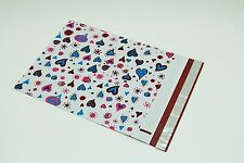100 10x13 Blue Hearts Designer Poly Mailers Envelopes Boutique Custom Bags