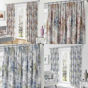 Woodland-Cinta-superior-Cortinas-de-arboles-de-impresion-Ready-Made-3-034-pares-de-cortina-plisado