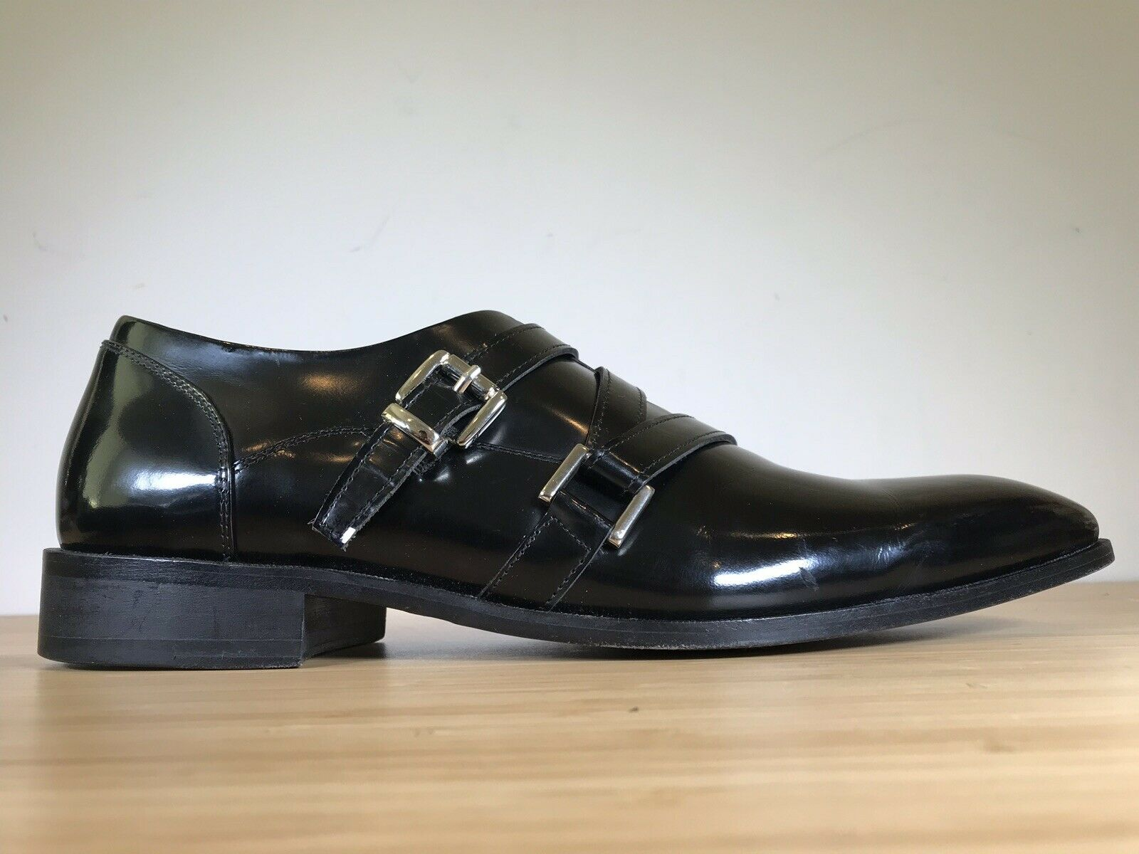 En cuir Paolo Iantorno Monk Strap Homme dress Chaussures Taille 10